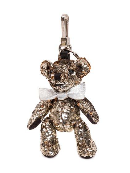 Sequins Thomas Teddy Bear Keychain image