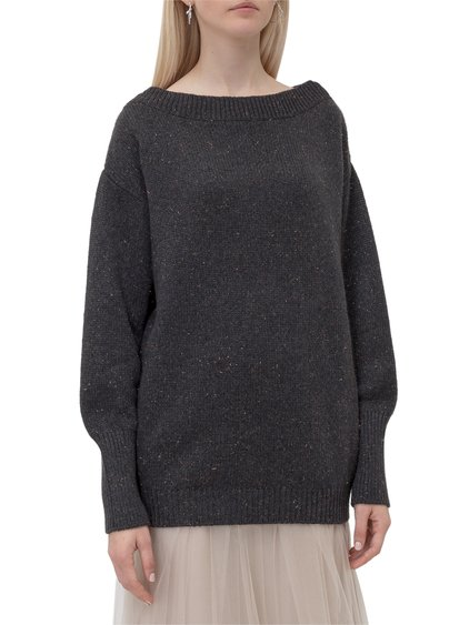 Sweater with Boat Neck image