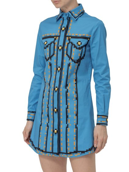 Pixel Capsule Dress with Print image