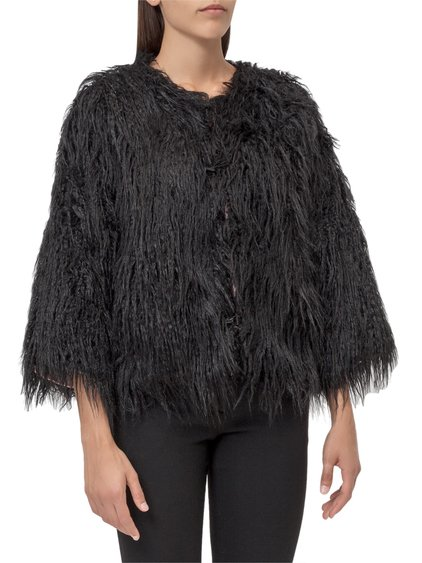 Cropped Fur with Button image