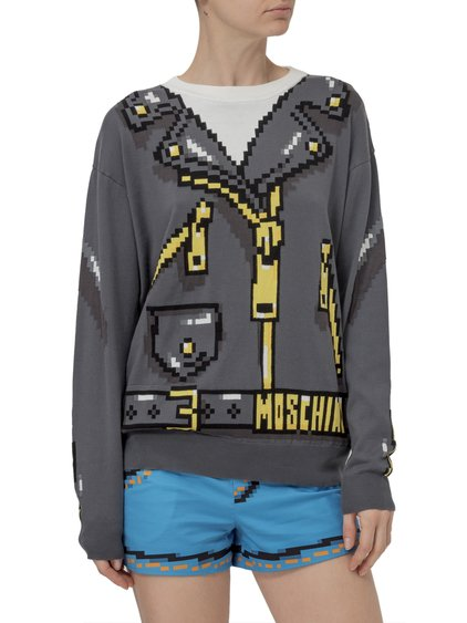 Pixel Capsule Sweater with Print image