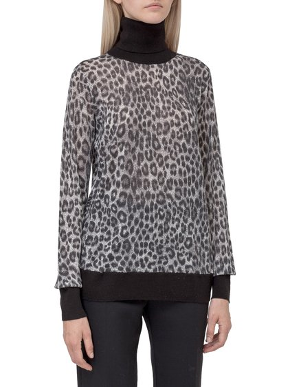 Sweater with Leopard-Skin Print image