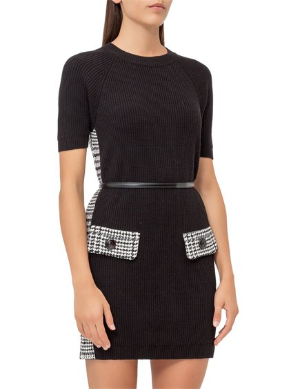 Knitted Dress with Belt image
