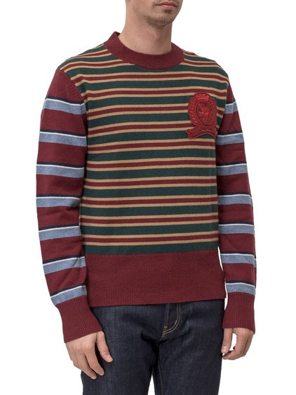 Round-necked Sweater with Stripes image