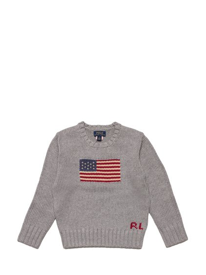 Round-Necked Sweater with Flag image