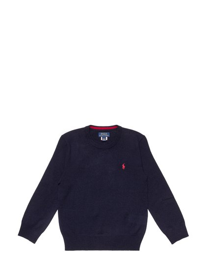 Round-Necked Sweater with Logo image