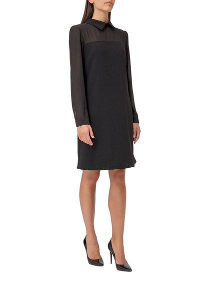 Mini Dress with Georgette Sleeves. image