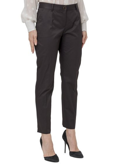 Slim Fit Trousers with Slits image