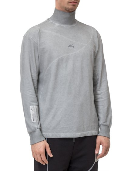 T-Shirt with High Collar image