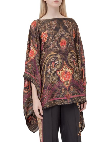 Poncho with Paisley Pattern image