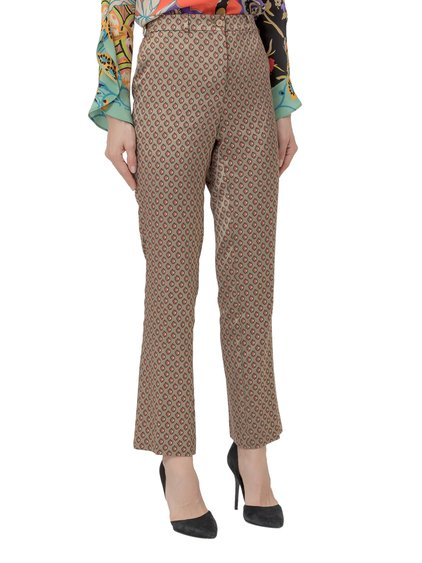 Flared Trousers with Print image