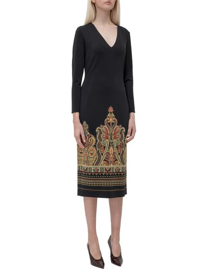 Tight-Fitting Dress with Print image