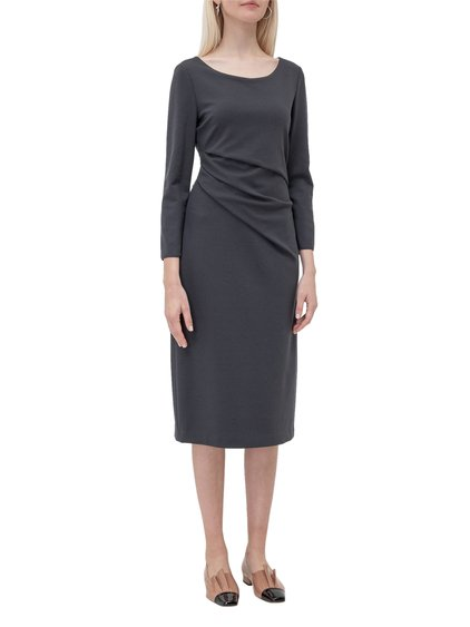 Tight-Fitting Dress with Folds image