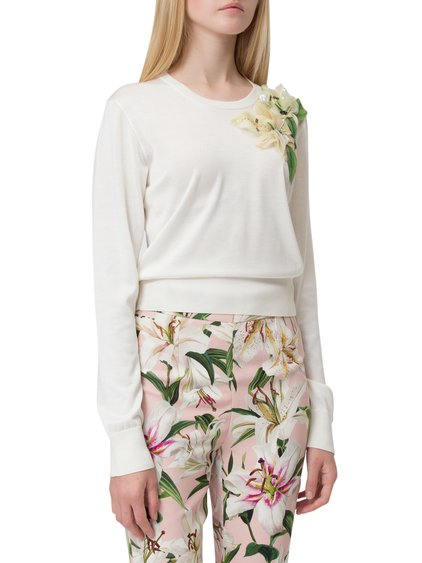 Pullover with Long Sleeves and Application image