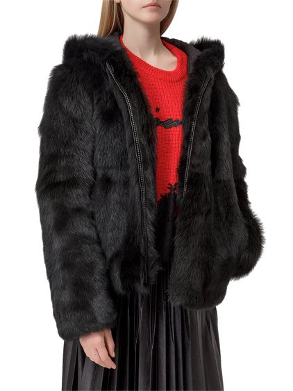 Fur Blouson with Logo image