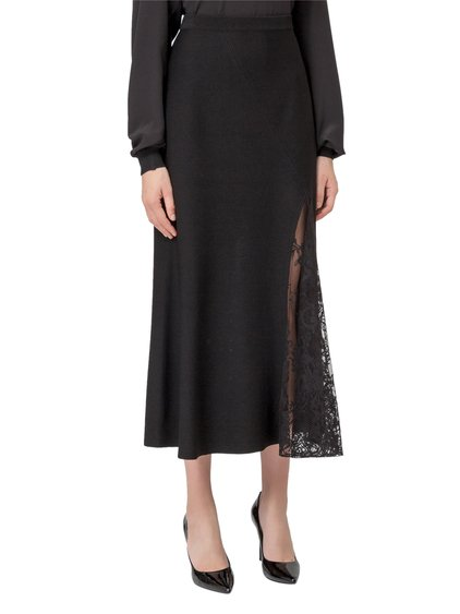 Midi Skirt with Lace Insert image