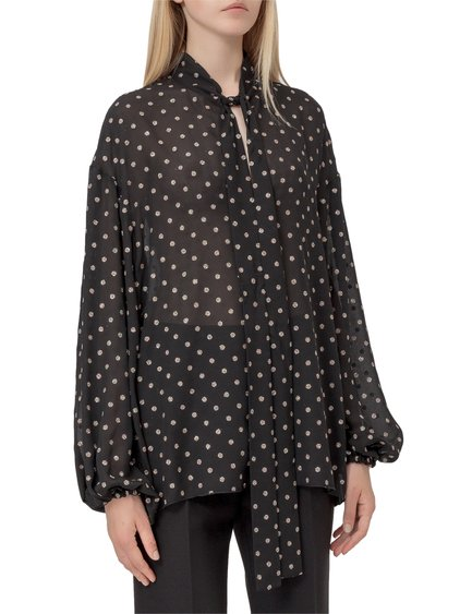 Blouse with Polka Dot image