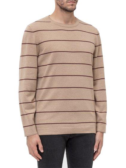 Round-Necked Sweatshirt with Stripes image