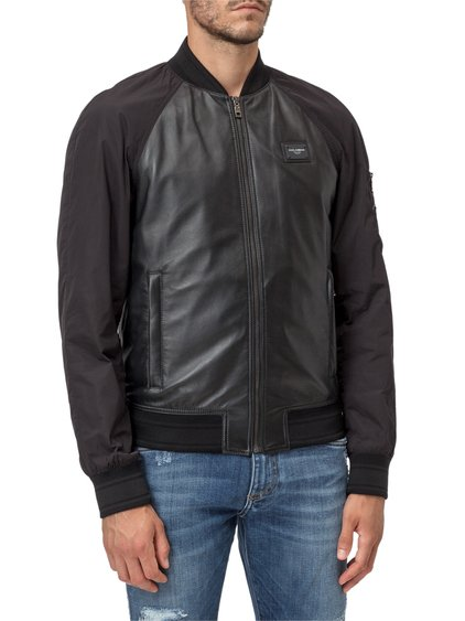 Jacket in Leather with Patch image