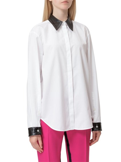 Shirt with Contrast Collar image