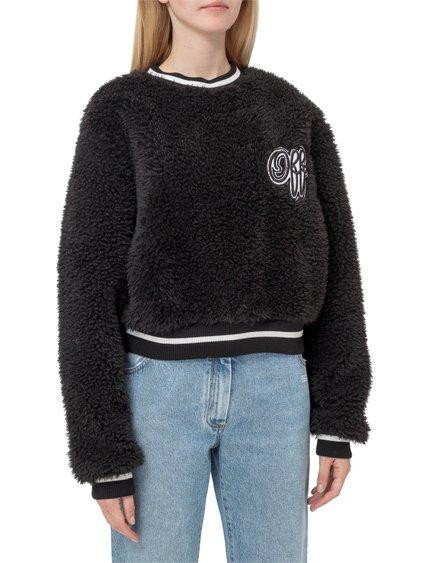 Short Round-Neck Sweatshirt image