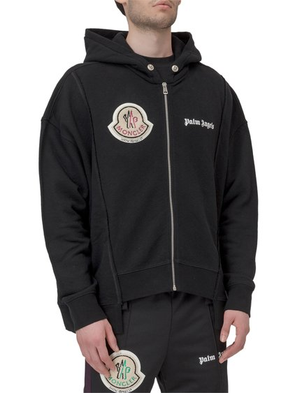 8 Moncler Palm Angels Hooded Sweatshirt with Zip image