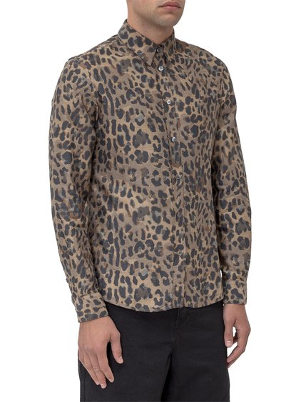 Shirt with Leopard-Skin Print image