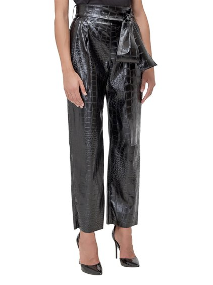 Trousers with Croco Print image