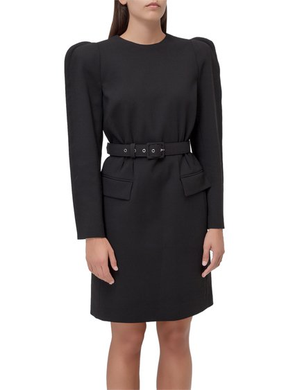 Dress with Puffed Sleeves image