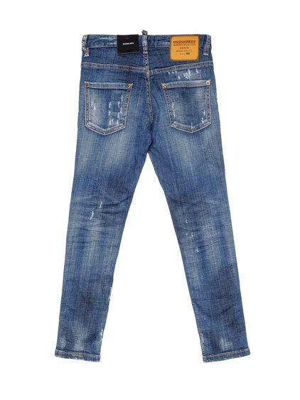 Distressed Effect Skater Jeans image