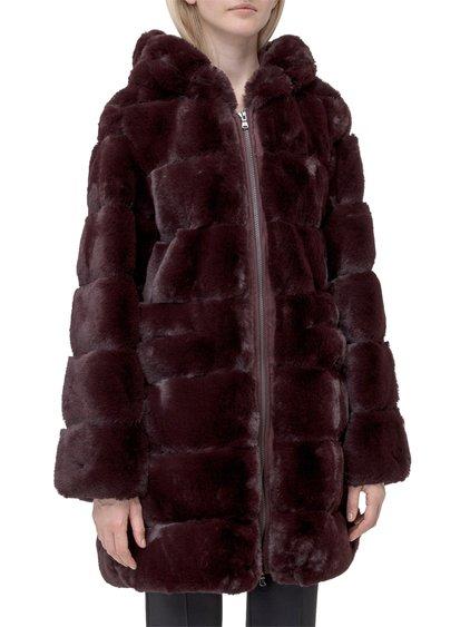 Eco-Fur Jacket with Hood image