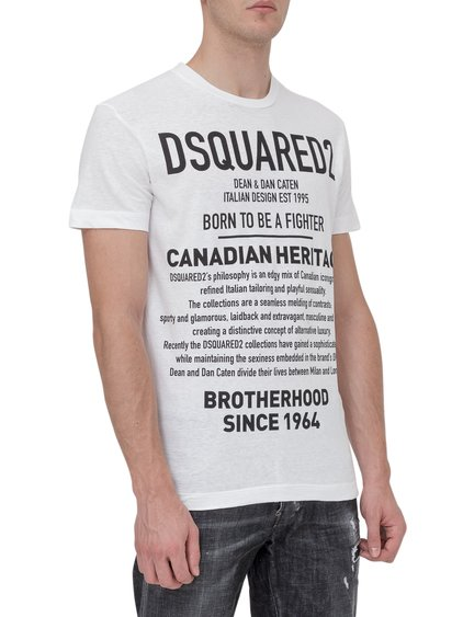 T-Shirt with Contrasting Print image