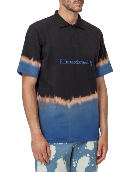 Bleached Effect Polo Shirt image