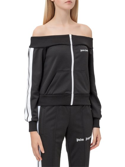 Shoulder Strapless Sweatshirt image
