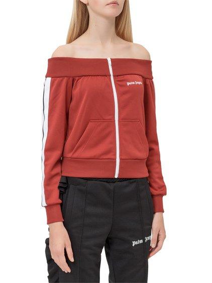 Shoulder Strapless Sweatshirt image