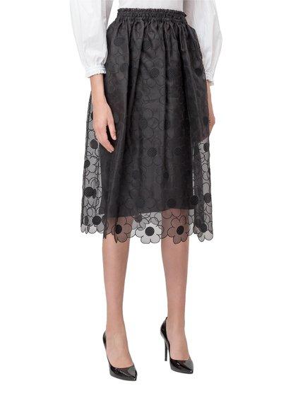 4 Moncler Simone Rocha Skirt in Silk image