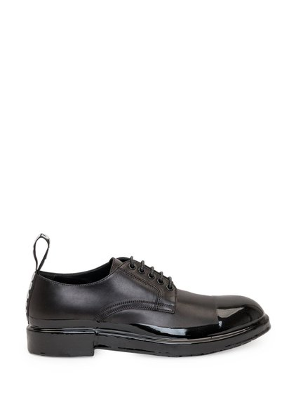 Leather Derby Shoes with Logoed Tongue image
