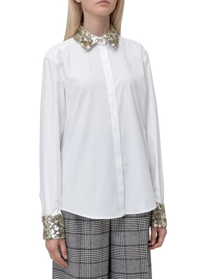 Shirt with Contrasting Collar image