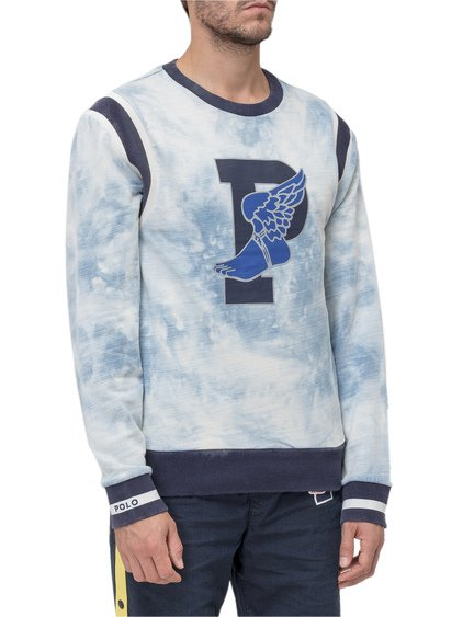 Indigo Stadium Sweatshirt with Logo image