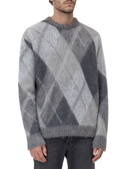 Round-Necked Sweater with Diamon Shapes image