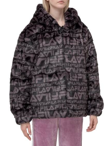 Fake Fur Jacket with Hood image