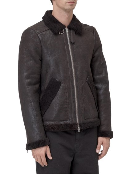 Leather Jacket with Zip image