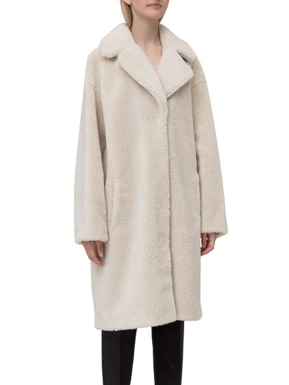 Lapel Collar Fur Coat image
