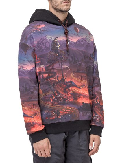 Hooded Sweatshirt with Allover Fantasy image