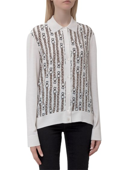 Cardigan with Printed Chains image