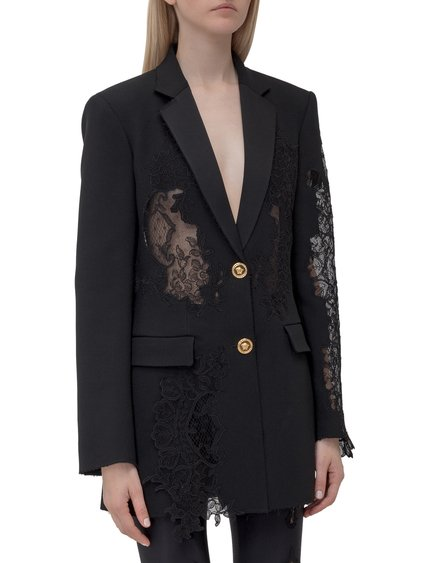Blazer with Lace Inserts image