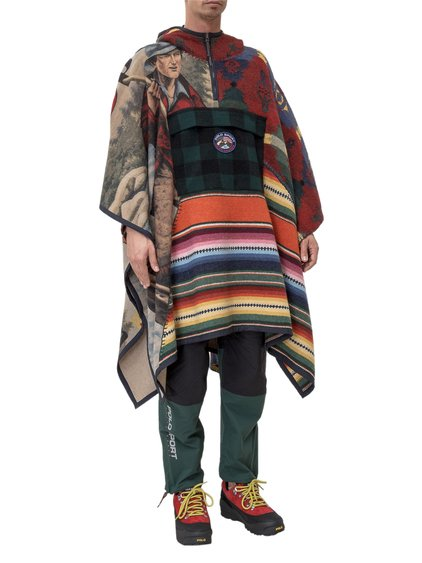 Outdoors Capsule Poncho with Print image