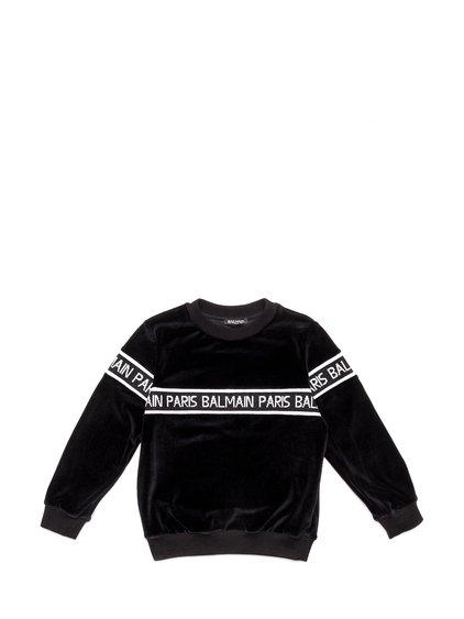 Velvet Sweatshirt with Logo image
