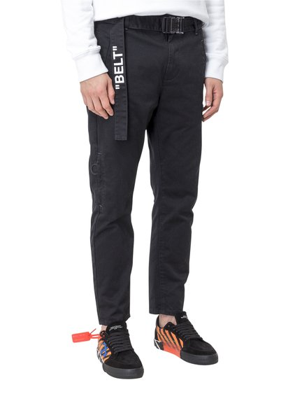 Slim Low Crotch Trousers image