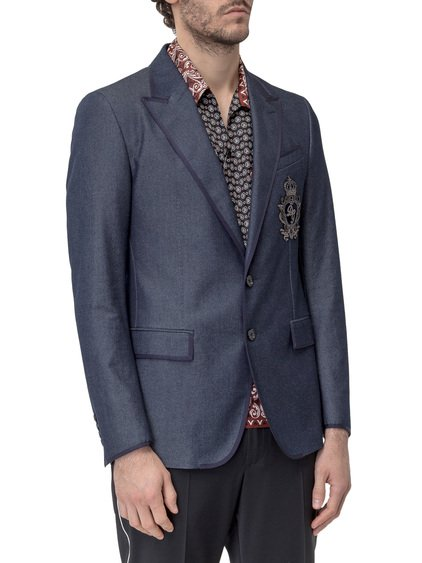 Silk Blazer with Patch image